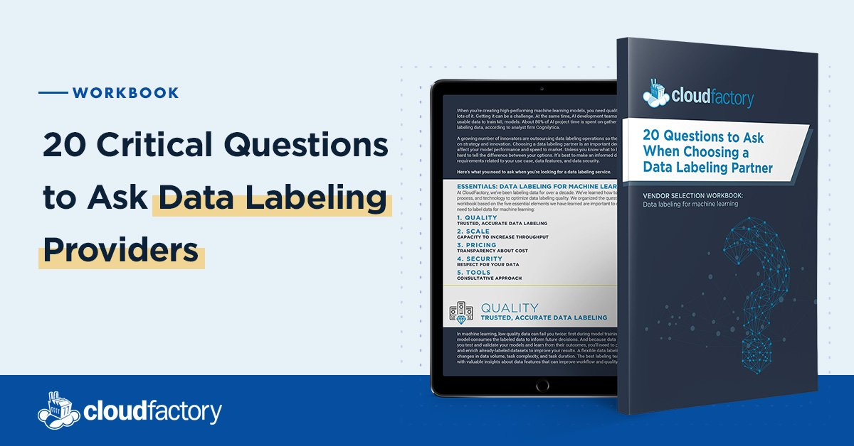 20 Critical Questions to Ask Data Labeling Providers